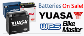 Yuasa, BikeMaster and WPS Batteries