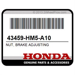 HONDA 43459-HM5-A10 NUT, BRAKE ADJUSTING