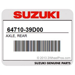 SUZUKI 64710-39D00 AXLE, REAR