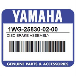 YAMAHA 1WG-25830-02-00 DISC BRAKE ASSEMBLY