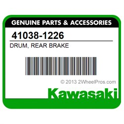KAWASAKI 41038-1226 DRUM, REAR BRAKE