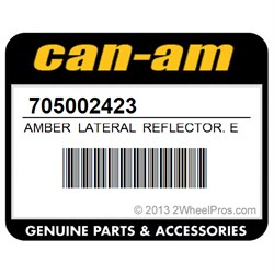 CAN AM 705002423 FRONT LATERAL REFLECTOR, AMBER
