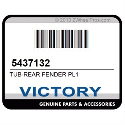 VICTORY 5437132 TUB-REAR FENDER PL1