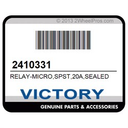 VICTORY 2410331 RELAY-MICRO,SPST,20A,SEALED