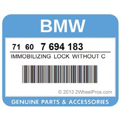BMW 71607694183 IMMOBILIZING LOCK WITHOUT CYLINDER
