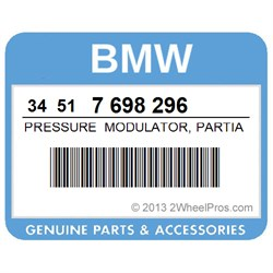 BMW 34517698296 PRESSURE MODULATOR, PARTIAL INTEGRAL ABS (TO 08/06)