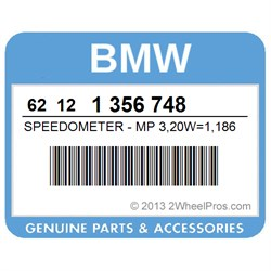 BMW 62121356748 SPEEDOMETER - MP 3,20W=1,186