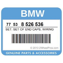 77538526536 BMW Set: Set of End Caps, Wiring Harness - 2WheelPros on oxygen sensor extension harness, pet harness, safety harness, electrical harness, nakamichi harness, amp bypass harness, engine harness, radio harness, fall protection harness, maxi-seal harness, obd0 to obd1 conversion harness, pony harness, cable harness, alpine stereo harness, swing harness, suspension harness, dog harness, battery harness,