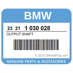 BMW 23211030028 OUTPUT SHAFT