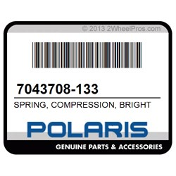 POLARIS 7043708-133 SPRING, COMPRESSION, BRIGHT WHITE