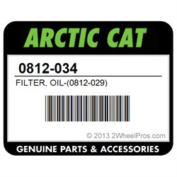 0812034    Arctic       Cat    Filter  Oil   0812  029   2WheelPros